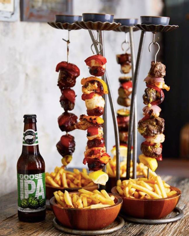 You would have to taste The Botanist's hanging kebabs? (Credit: The Botanist)