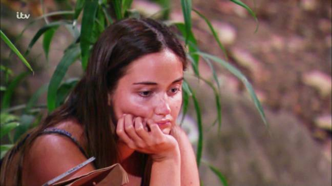 Jacqueline Jossa was reportedly left devastated in the jungle. (Credit: ITV)