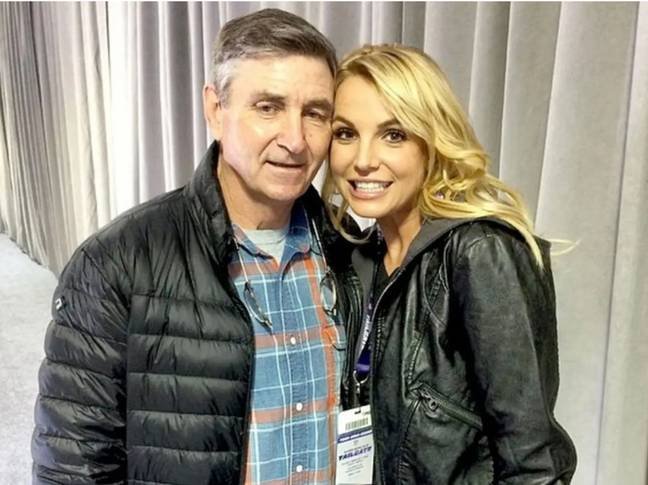 Britney Spears and her dad Jamie Spears (Credit: Britney Spears/Instagram)