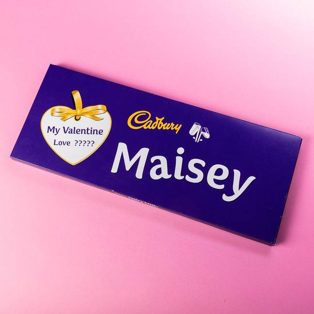 You can send your loved one a giant Cadbury bar for Valentine's Day (Credit: firebox.com)