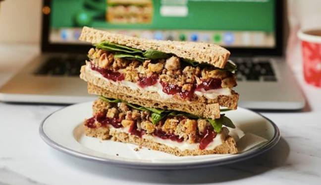 This Christmas sandwich could be yours to taste for free (Credit: Greggs)