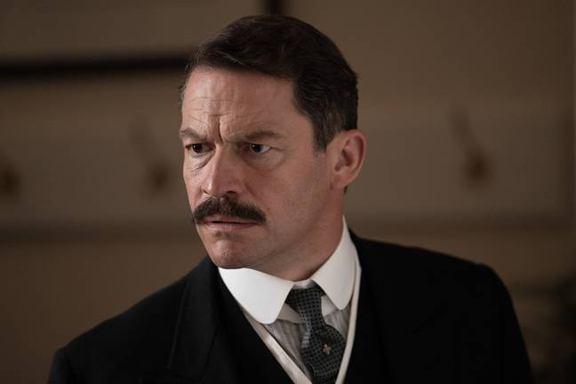 Dominic West stars as Linda's father in the three-part series (Credit: BBC)
