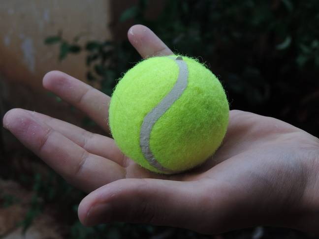 You can even massage your back using tennis balls (Credit: Needpix)