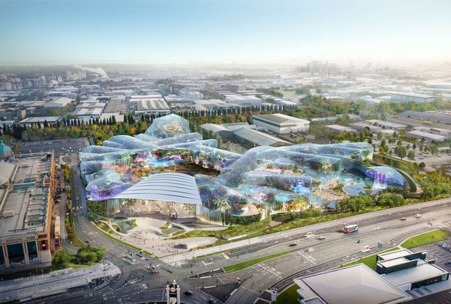 The first of the UK's new water attractions will be built in Manchester from next year (Credit: The Theme Group)