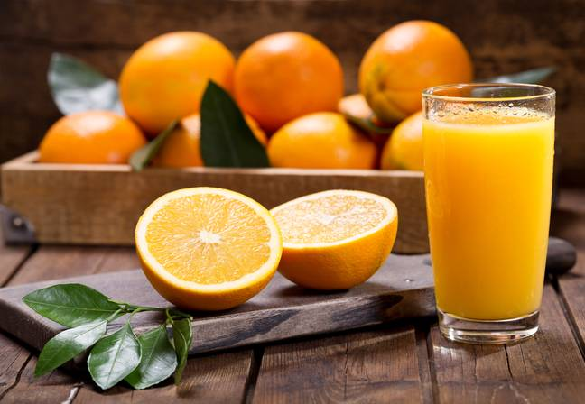 Orange juice could also be a solution (Credit: Shutterstock)