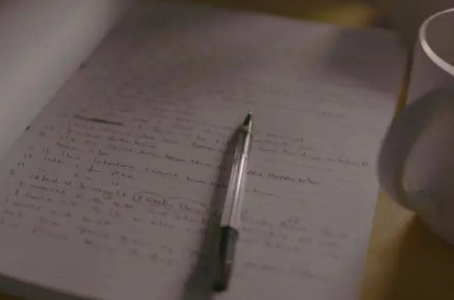 Worboys' diary included mock responses before his interview with police (Credit: Channel 5)