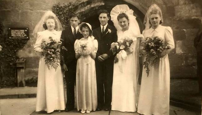 The first wed there in 1944. Credit: SWNS