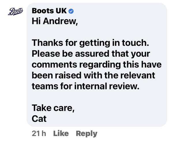 Boots apologised for 'any offence caused' (Credit: Kennedy)