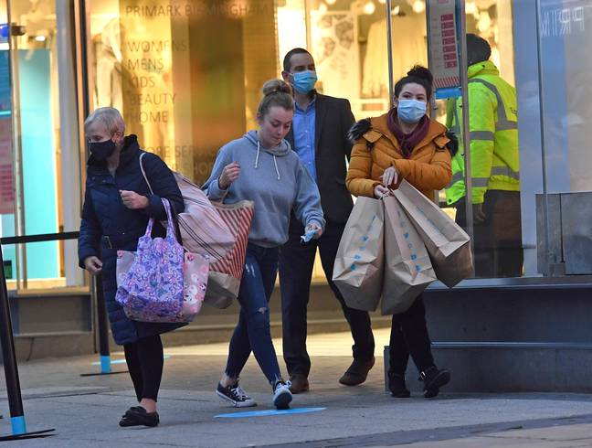 Shoppers flocked out in their droves (Credit: PA)