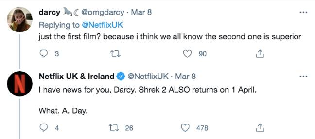 Shrek 2 is also in the pipelines (Credit: Twitter)