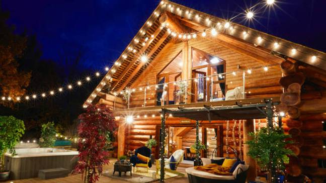 Contestants will be staying in log cabins (Credit: ITV)