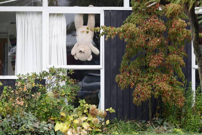 The simple premise is to display stuffed toys on a ledge or a window sill so that children can count them (Credit: PA Images)