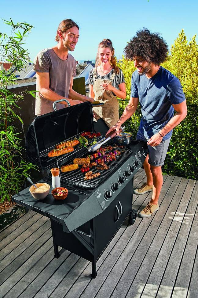 The garden table and barbeque are part of the brand's 'Summer Barbeque' range (Credit: Lidl)