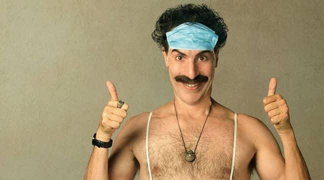 Borat accidentally took over the Alexa (Credit: Borat Subsequent Moviefilm/ Amazon Prime)