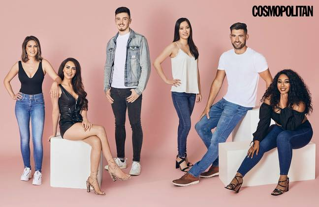 From left to right: 1)Jane, 2) Ella-Morgan, 3) Liam, 4) Michelle, 5) Mike and 6) Chanel Credit: Cosmopolitan/Tinder