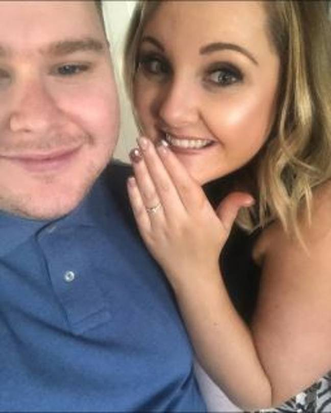 Jason Forry, 28, with his fiancée Natalie Anderson, 27. Credit: Jason / Twitter