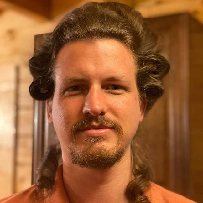 Geoff's hairstyles soon went viral (Credit: Jam Press)