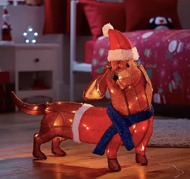 ASDA are selling Sausage Dog Shaped Christmas Light (£25). (Credit: ASDA)