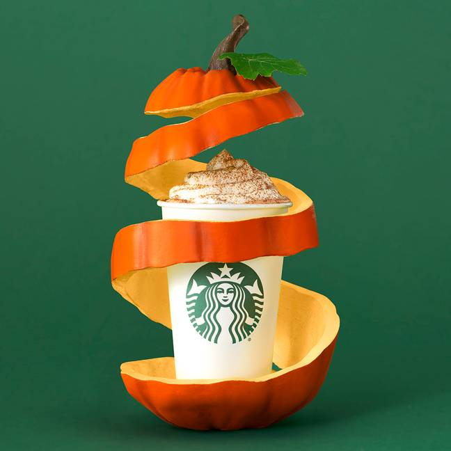 The pumpkin spice latte launches this Friday (Credit: Starbucks)