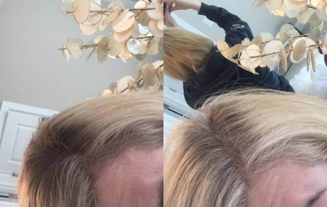 The blonde spray is less effective on dark route, but it'll still give you some light coverage (Credit: Amazon)
