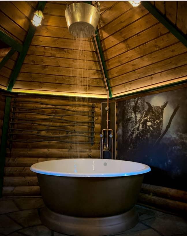 The hut has a rainfall shower (Credit: Media Drum World)