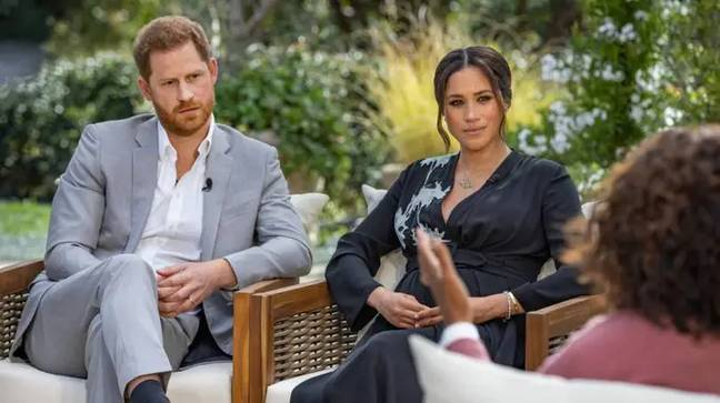 Harry and Meghan spoke their truth to Oprah (Credit: CBS)