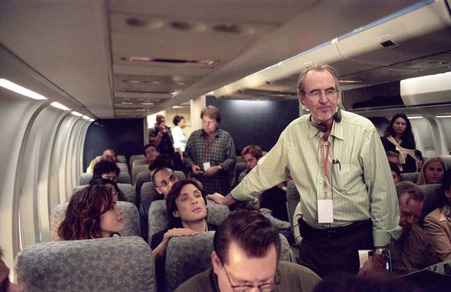 Wes Craven on the set of Red Eye (Credit: PA)