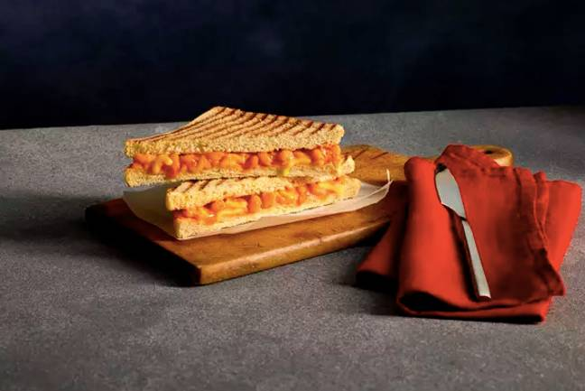 The toasted sarnie is packed full of Heinz Baked Beanz and lashings of melted mature cheddar cheese (Credit: Costa)