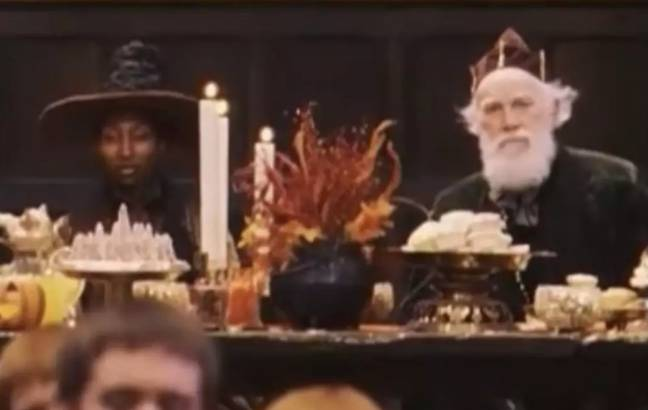 Tom's granddad can be seen at the faculty table (Credit: Warner Bros)