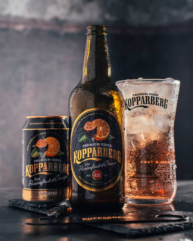 Kopparberg is launching a passionfruit and orange flavoured cider (Credit: Kopparberg)
