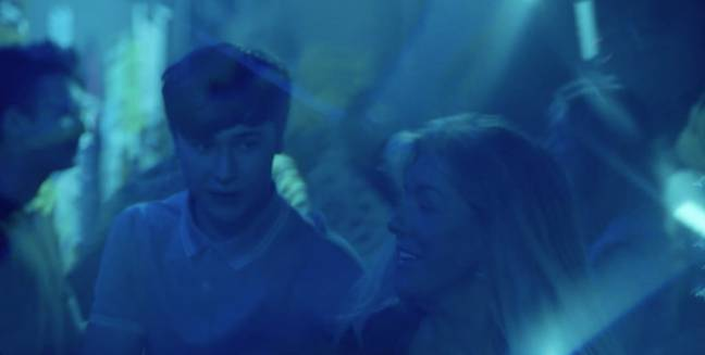 In another shot, she appears to be at a nightclub with a student (Credit: Channel 5)
