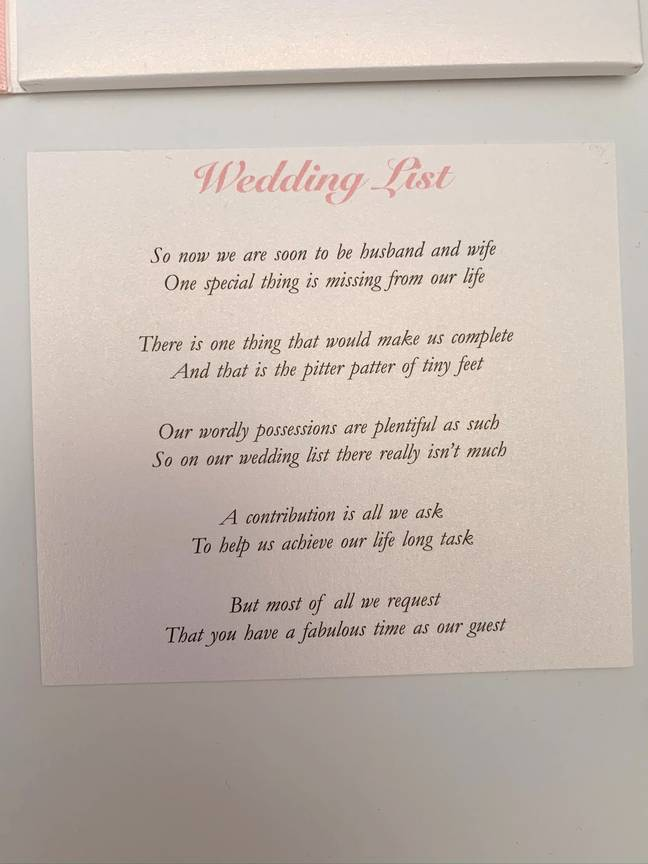 The couple asked for help using their wedding invitations (Credit: Caters)