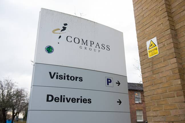 Chartwells, owned by Compass, has since apologised (Credit: SWNS)