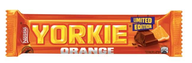 The new Yorkie Orange bar (Credit: Nestlé)
