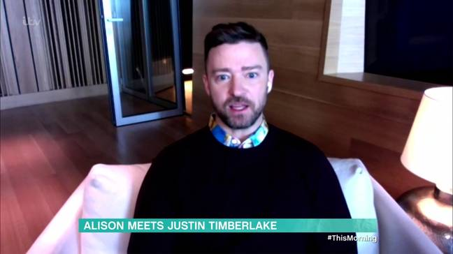 Justin Timberlake was interviewed by Alison for This Morning (Credit: ITV/Shutterstock)