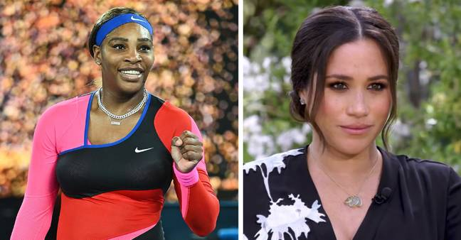 Serena Williams voiced her support for Meghan (Credit: PA/ CBS)