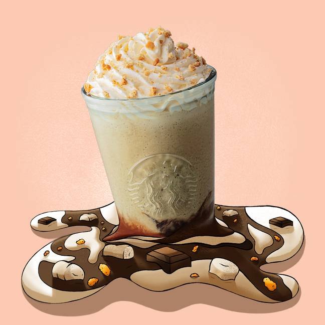 The Chocolate Marshmallow S'mores Frappu will be available for a limited time only (Credit: Starbucks)
