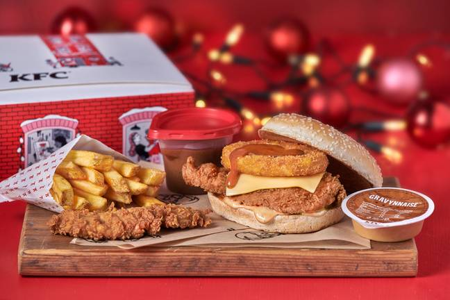 The Gravy Burger Box meal is priced from £6.99 (Credit: KFC)