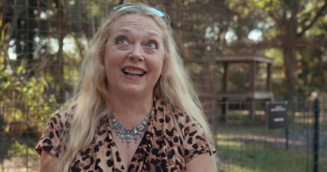 Carole Baskin was awarded ownership of Joe Exotic's zoo in a court hearing earlier this week (Credit: Netflix)