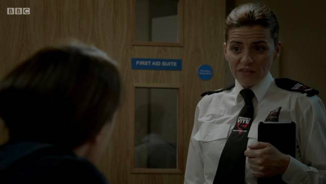 Fans were shocked to see the prison guard in the latest Line of Duty episode (Credit: BBC)