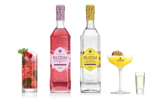 Packaged in a textured bottle, BLOOM Gin comes in two new fruity and floral flavours (Credit: Tesco)