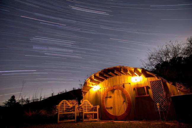 The Hobbit House by night - magical! (Credit: Rightmove)