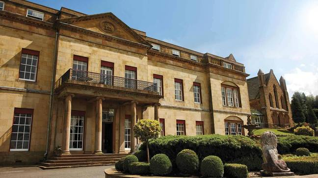 The mulled wine hot tub is at Shrigley Hall in Cheshire (Credit: Shrigley Hall)
