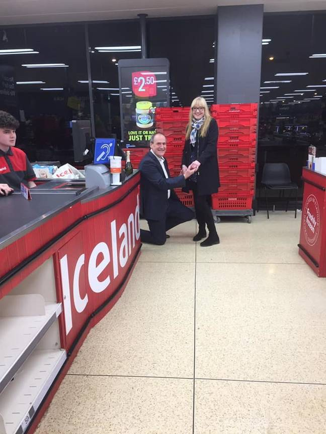 Robert got down on one knee in Iceland (Credit: Kennedy News and Media)
