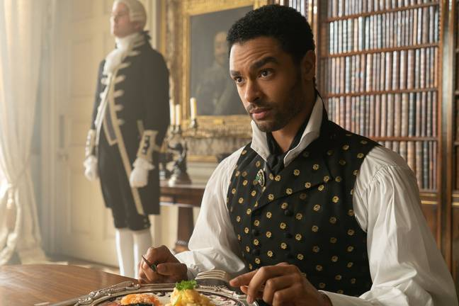 It was confirmed that the Duke played by Regé-Jean Page will not return for the second season which is currently filming (Credit: Netflix)