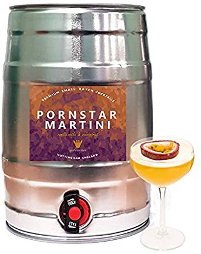 The Pornstar Martini Keg costs £101.00 from Giraffe Draught Cocktails on Amazon (Credit: Giraffe Draught Cocktails / Amazon)