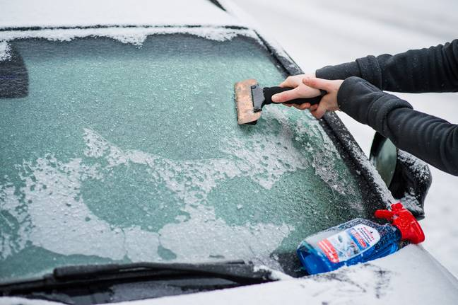 There's nothing worse than turning the heating on in your icy cold car (Credit: PA)