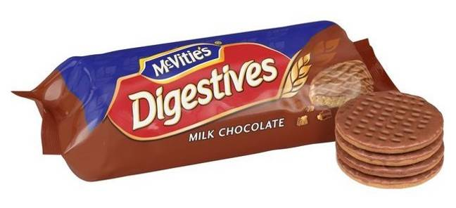 In a poll of 2000 Brits the Chocolate Digestive was crowned Britain's best biscuit (Credit: McVitie's)