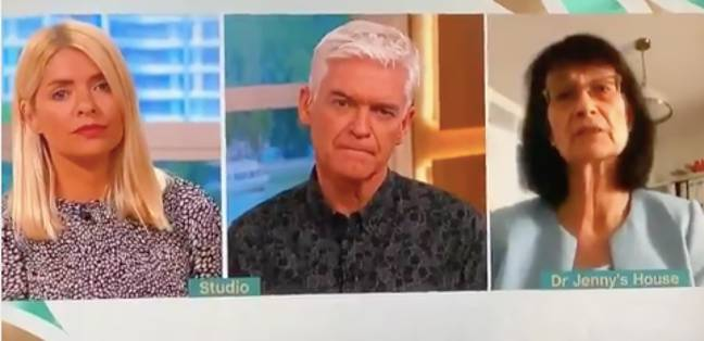 Phil and Holly interviewed Dr Jenny on the daytime show (Credit: ITV)