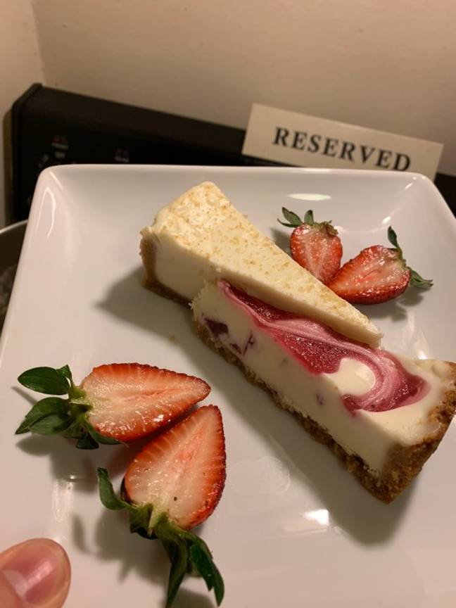 It was strawberry cheesecake for dessert (Credit: Jeffery Johnson)